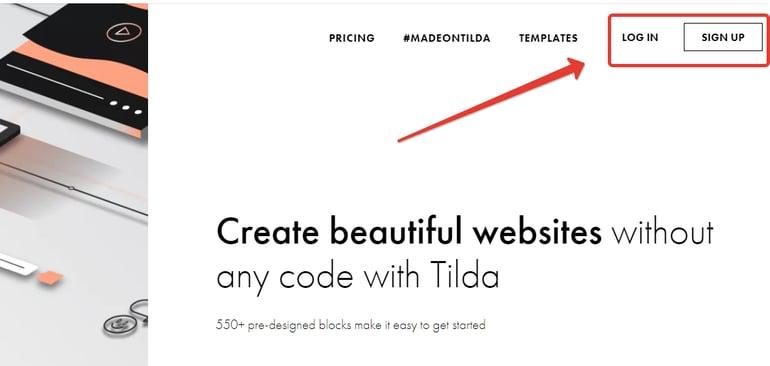 Tilda - Log In