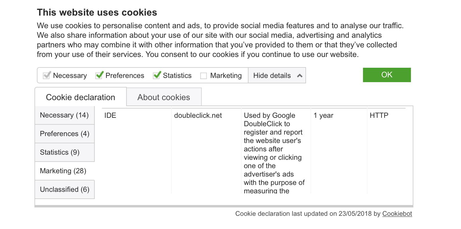 gdpr cookies form 2