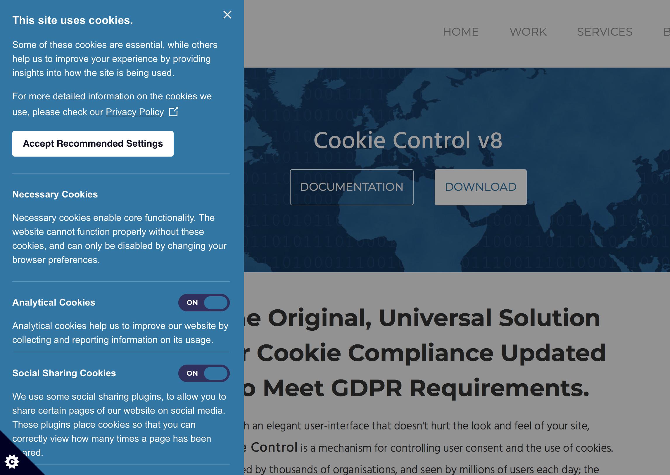 gdpr cookies form 3