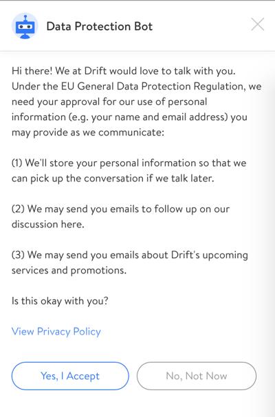 gdpr messenger consent