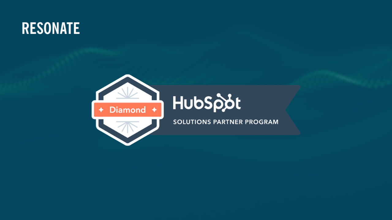 Resonate becomes Hubspot Diamond Partner