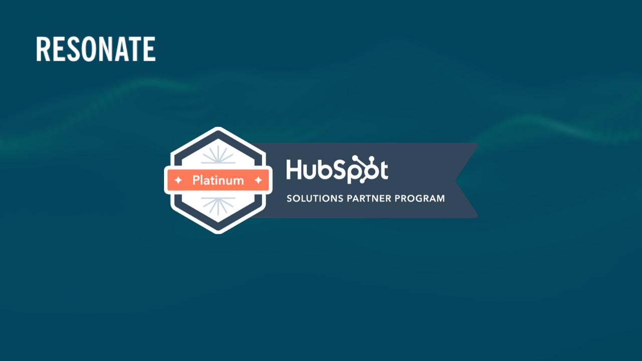Resonate becomes Hubspot Platinum Solution Partner